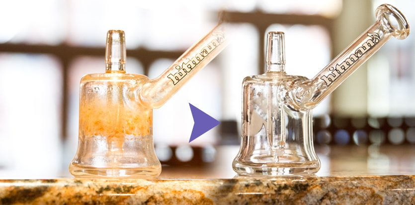 how to clean bong with vinegar